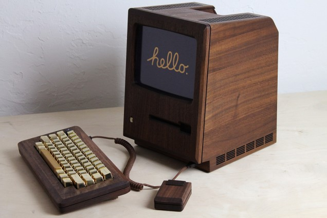 1984 Apple Macintosh Replica From Wood and Gold