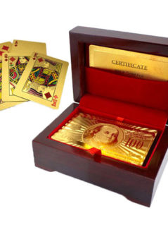 24kt Gold-Plated Playing Cards & Carry Case 1