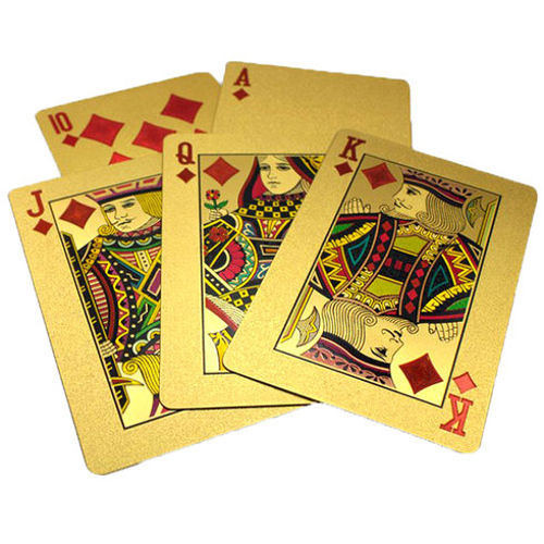 24kt Gold-Plated Playing Cards & Carry Case 2