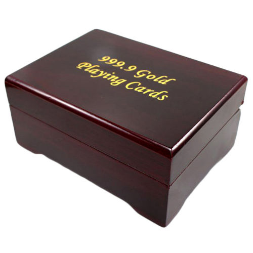 24kt Gold-Plated Playing Cards & Carry Case 4