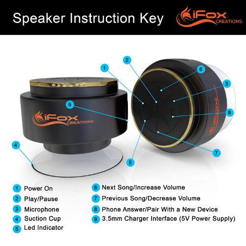 Amazing Discount On Bluetooth Shower Speaker - Waterproof & Dustproof 3