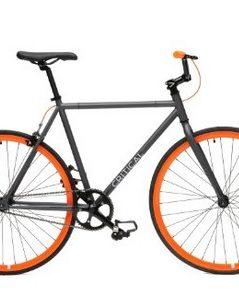 Critical Cycles Fixed Gear Single Speed Fixie Urban Road Bike grey orange