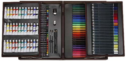 Darice deluxe art set various pieces agazoo for Professional painting supplies
