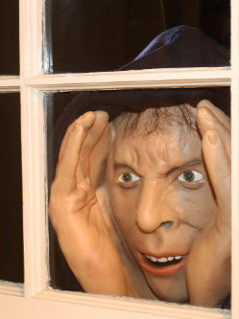 Deluxe-Vinyl Halloween Prank Novelty Prop Mask Peeping Tom 1
