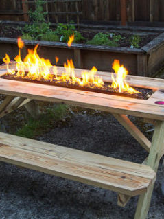 Fire Pit Picnic Table 1