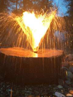 Flame Stone Fountain 1