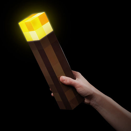 Minecraft Light-Up Torch 1