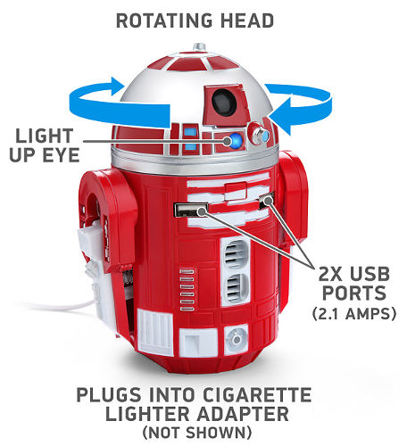 R2-D9 USB Car Charger 2