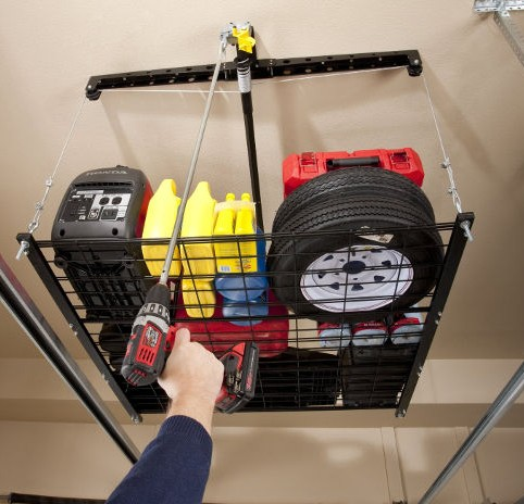 Racor Cable-Lifted Storage Rack 2