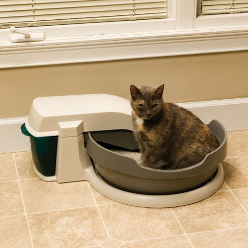 catty corner litter box system