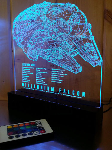 Star Wars Millennium Falcon Decor Lamp 1