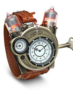 Steampunk-styled Tesla analog watch 1