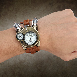 Steampunk-styled Tesla analog watch 3