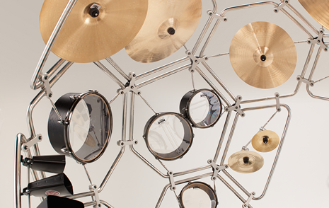 The Raijin drum kit prototype 3