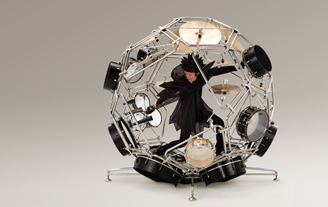 The Raijin drum kit prototype
