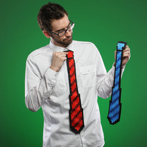 The ThinkGeek 8-bit Tie 2