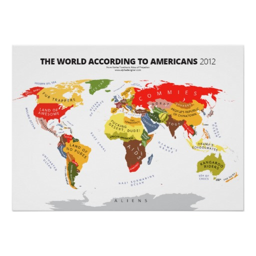 The World Map According to Americans