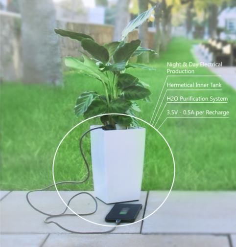 The first plant pot that charges your phone! 3