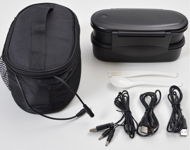 USB Double Heater Pouch With Lunch Box 4