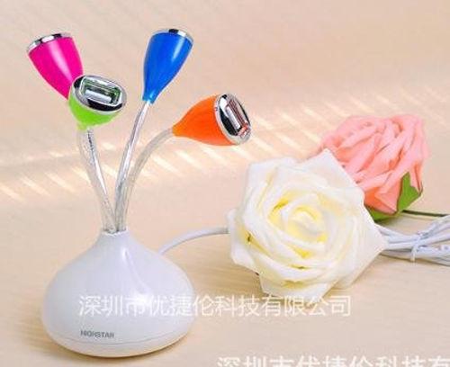 Wewdigi 4 USB Vase Shaped HUB