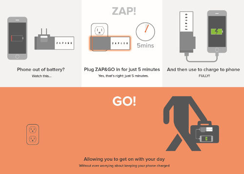 Zap&Go Graphene Supercapacitor Charger - Agazoo